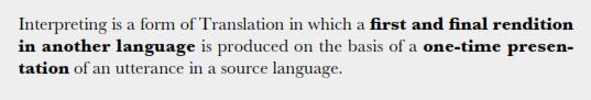 تعریف کار ترجمه شفاهی